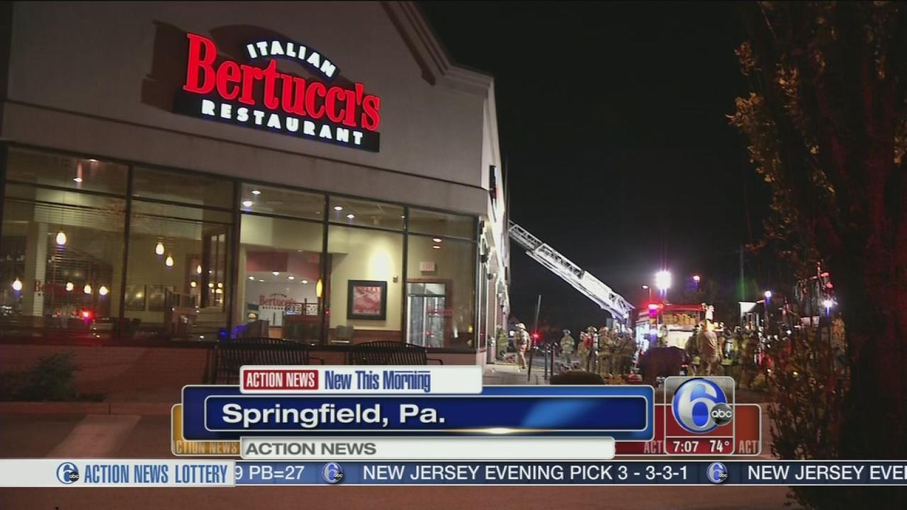 VIDEO: Fire breaks out in Delco Italian restaurant