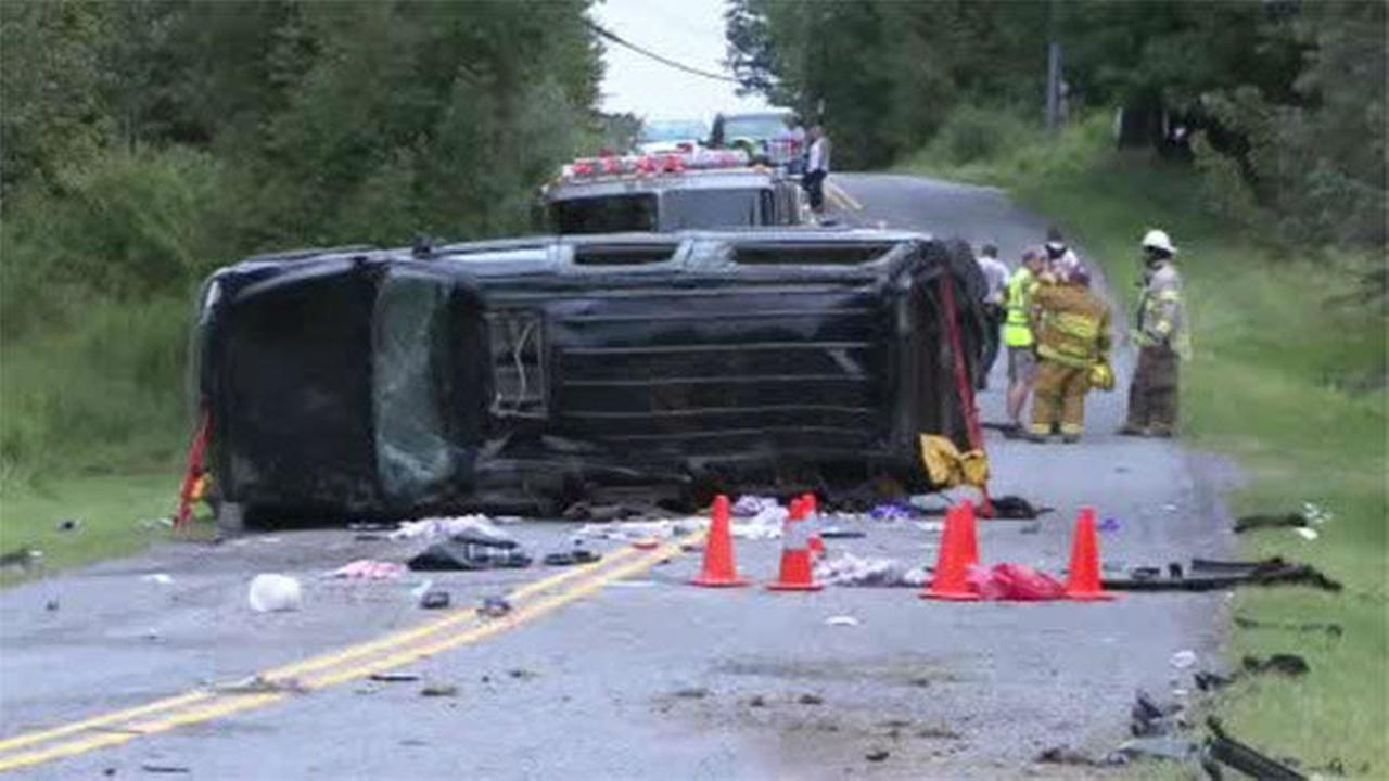 PHOTOS: Fatal rollover SUV crash in Poconos