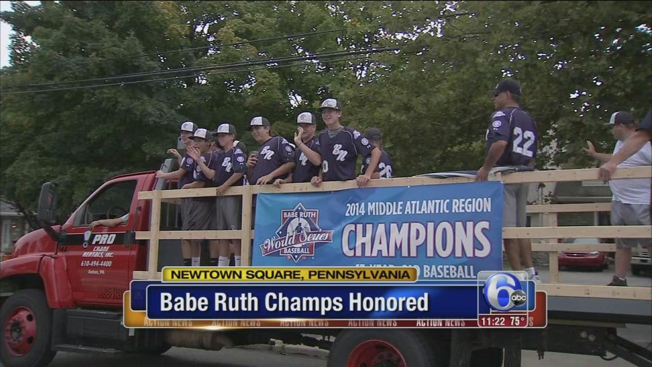 VIDEO: Parade for local Babe-Ruth World Series champs