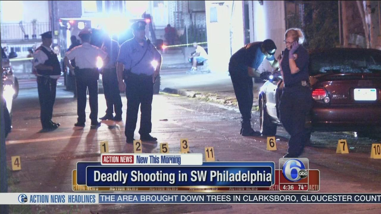 VIDEO: Police investigate fatal shooting in Southwest Philadelphia