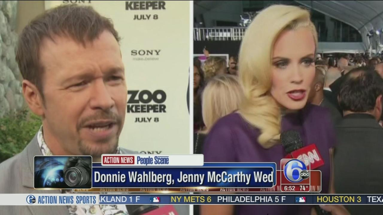 VIDEO: Donnie Wahlberg and Jenny McCarthy wed