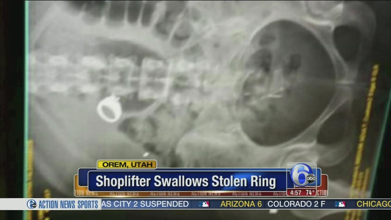 VIDEO: Shoplifter accused of swallowing stolen ring