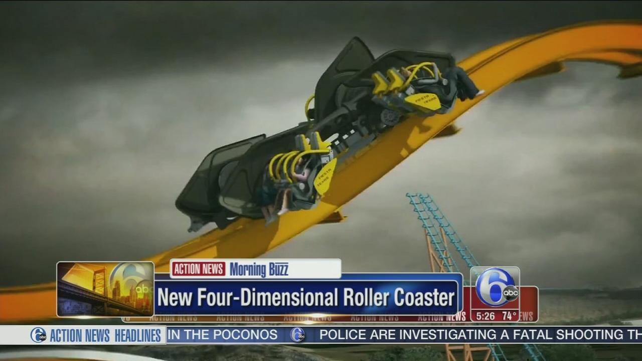 VIDEO: New 4-dimensional Batman roller coaster