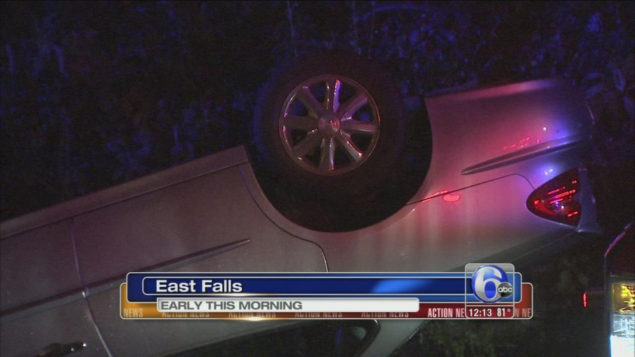 VIDEO: Car flips on Lincoln Drive