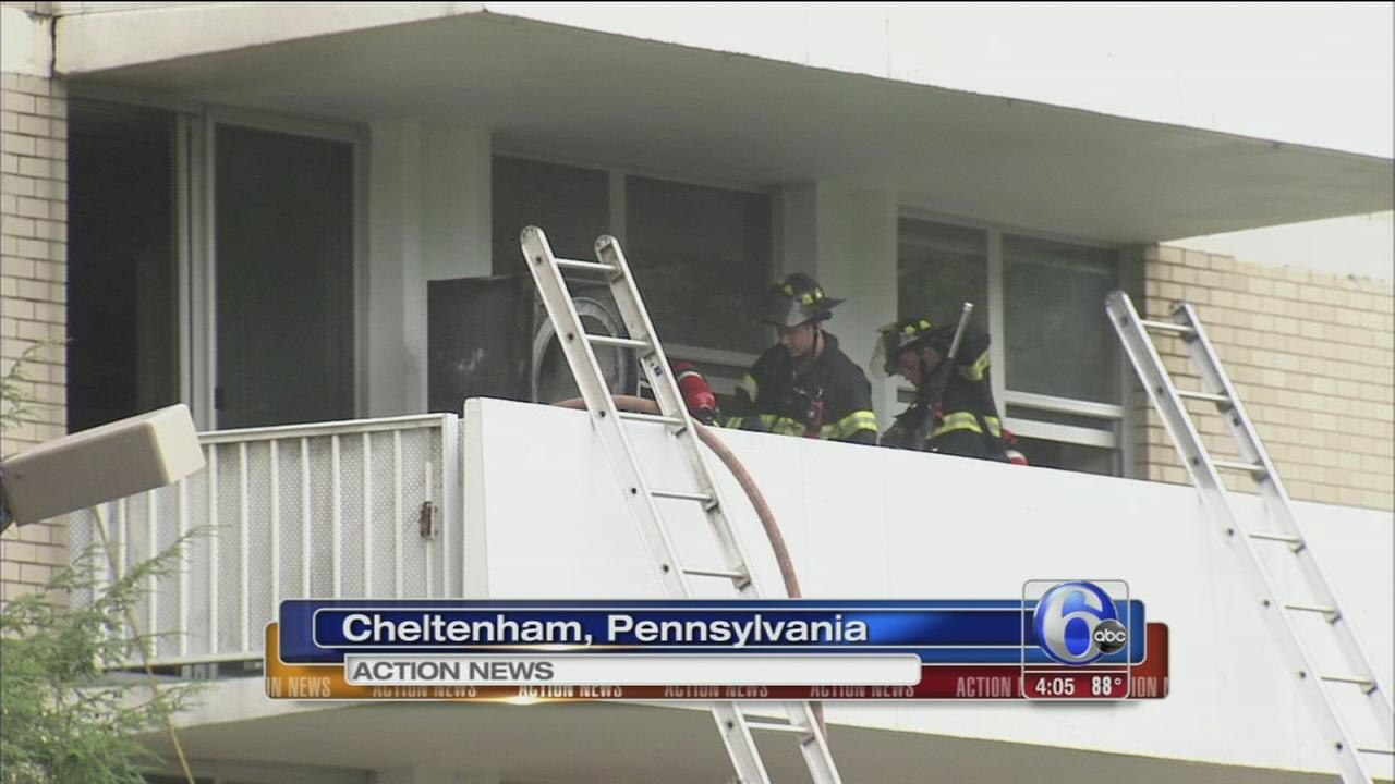 VIDEO: Apartment fire in Cheltenham