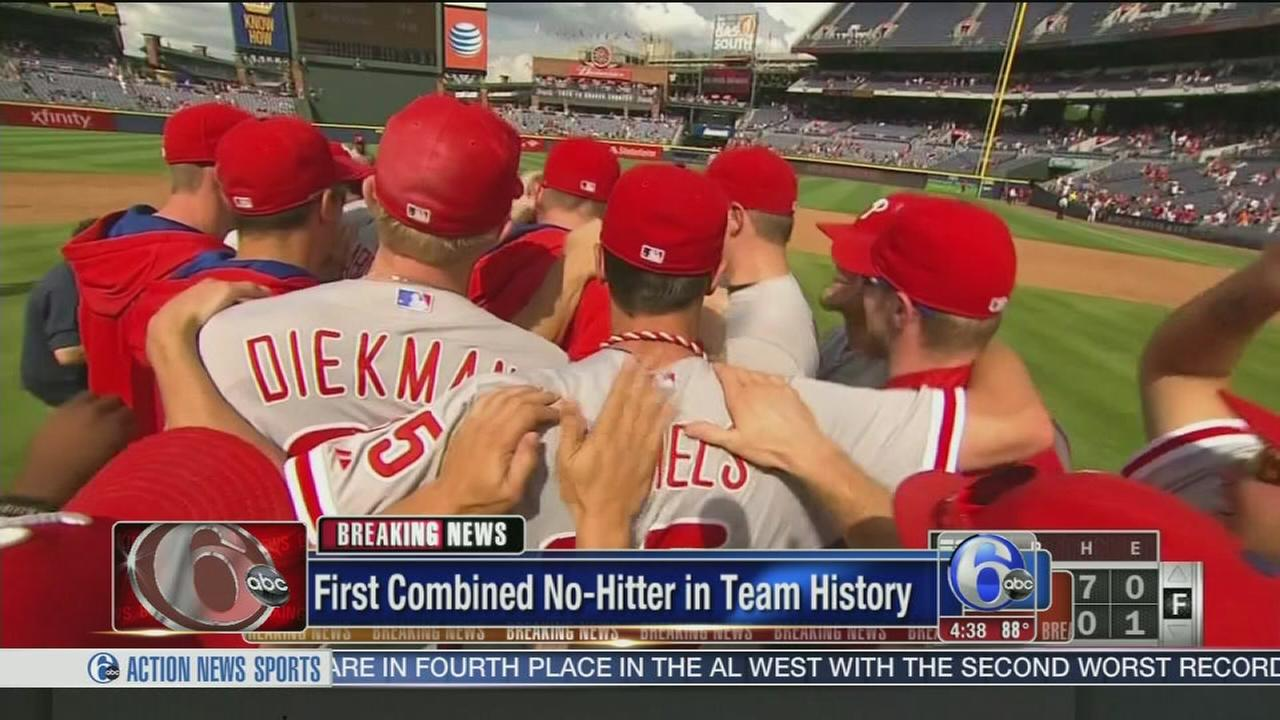 VIDEO: Phillies no-hitter against Braves
