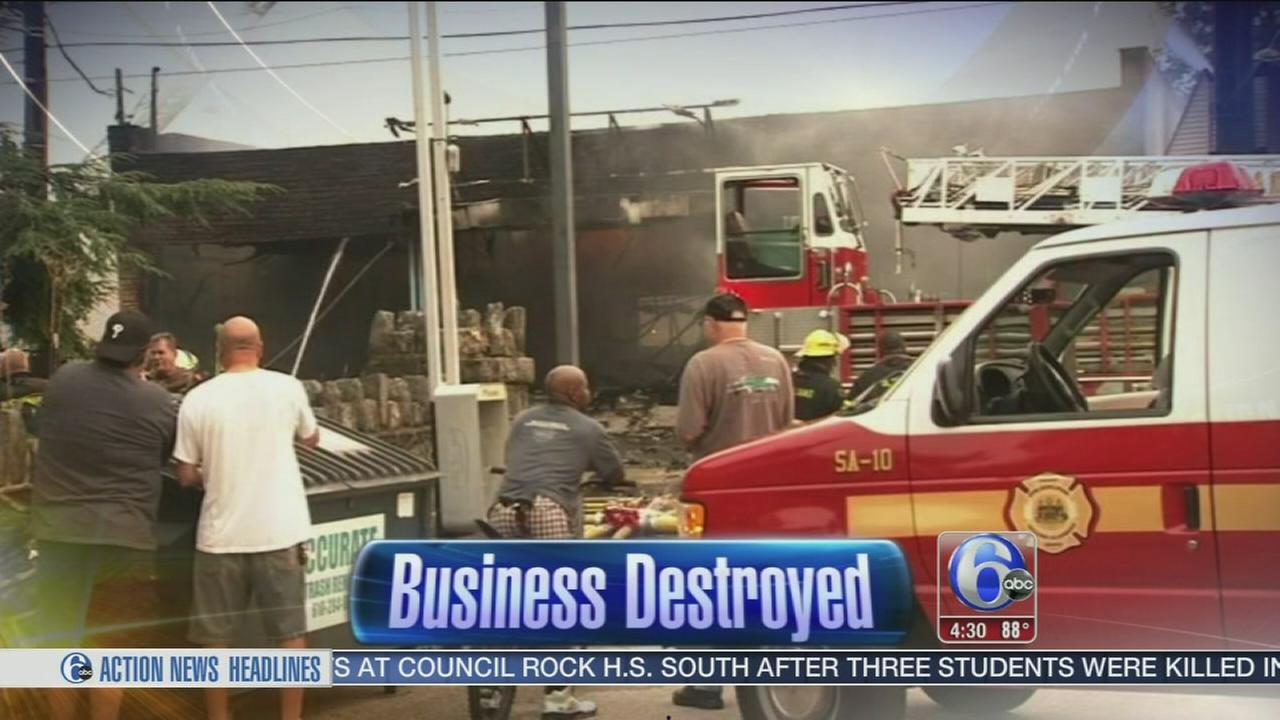 VIDEO: Fire destroys dry cleaning business