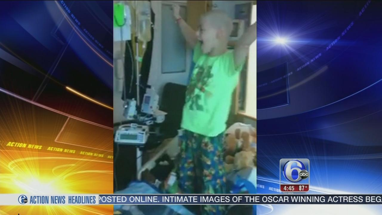 ON VIDEO: Young cancer patient hears some really good news