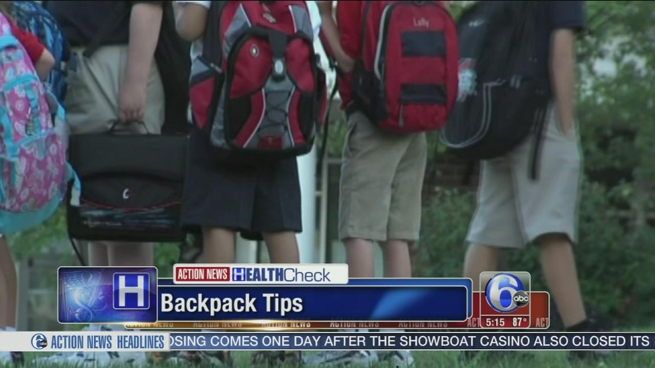 VIDEO: Backpack safety in time for back to school
