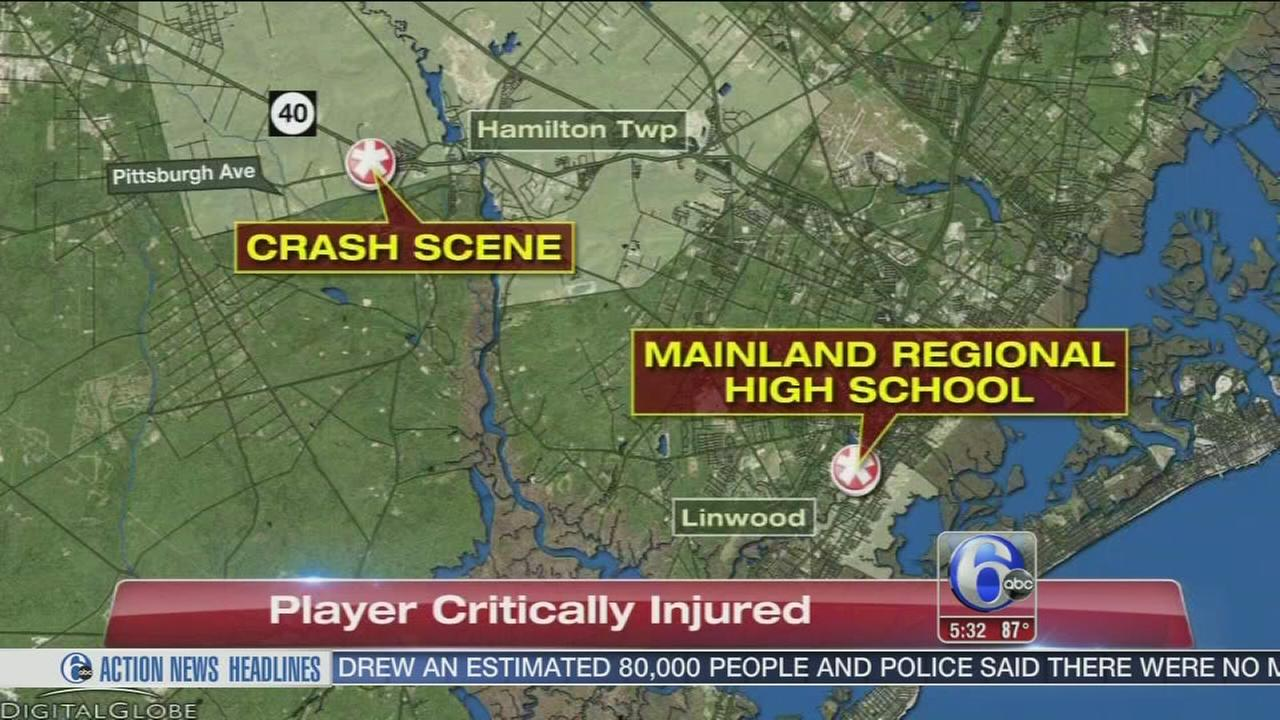 VIDEO: Teen athlete on life support after Hamilton Twp. crash