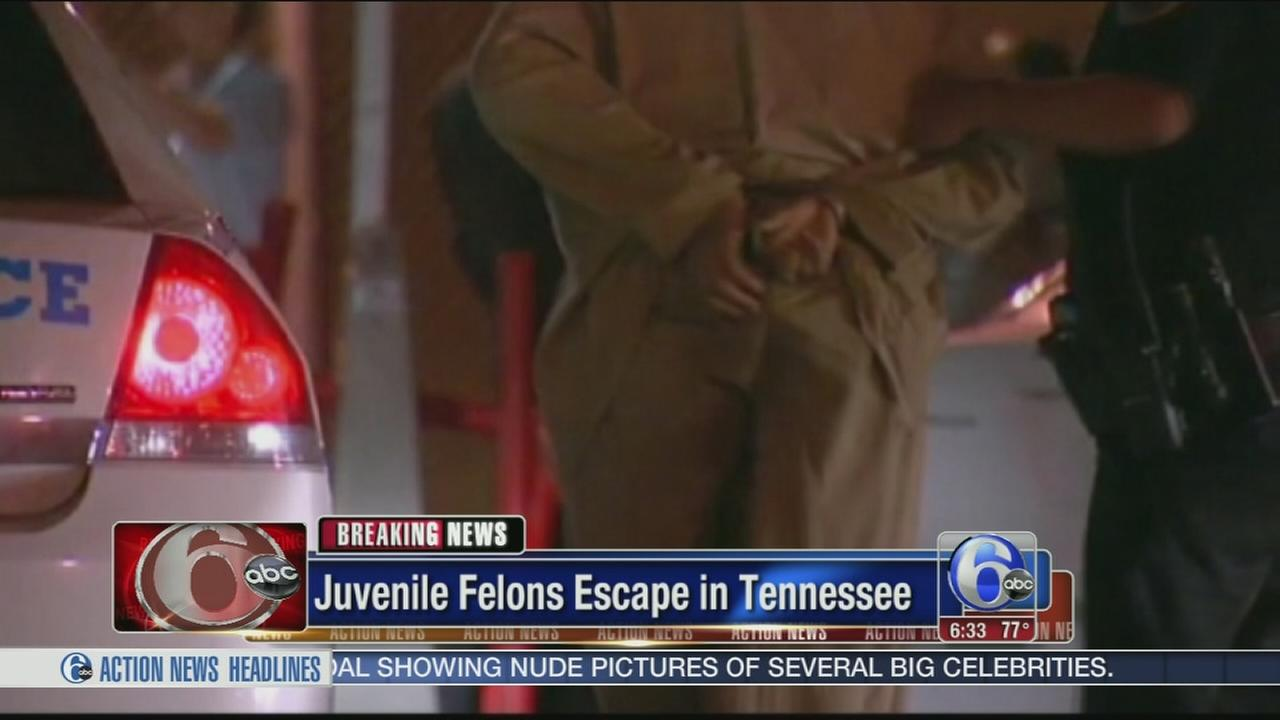 VIDEO: Teen felons escape from detention center