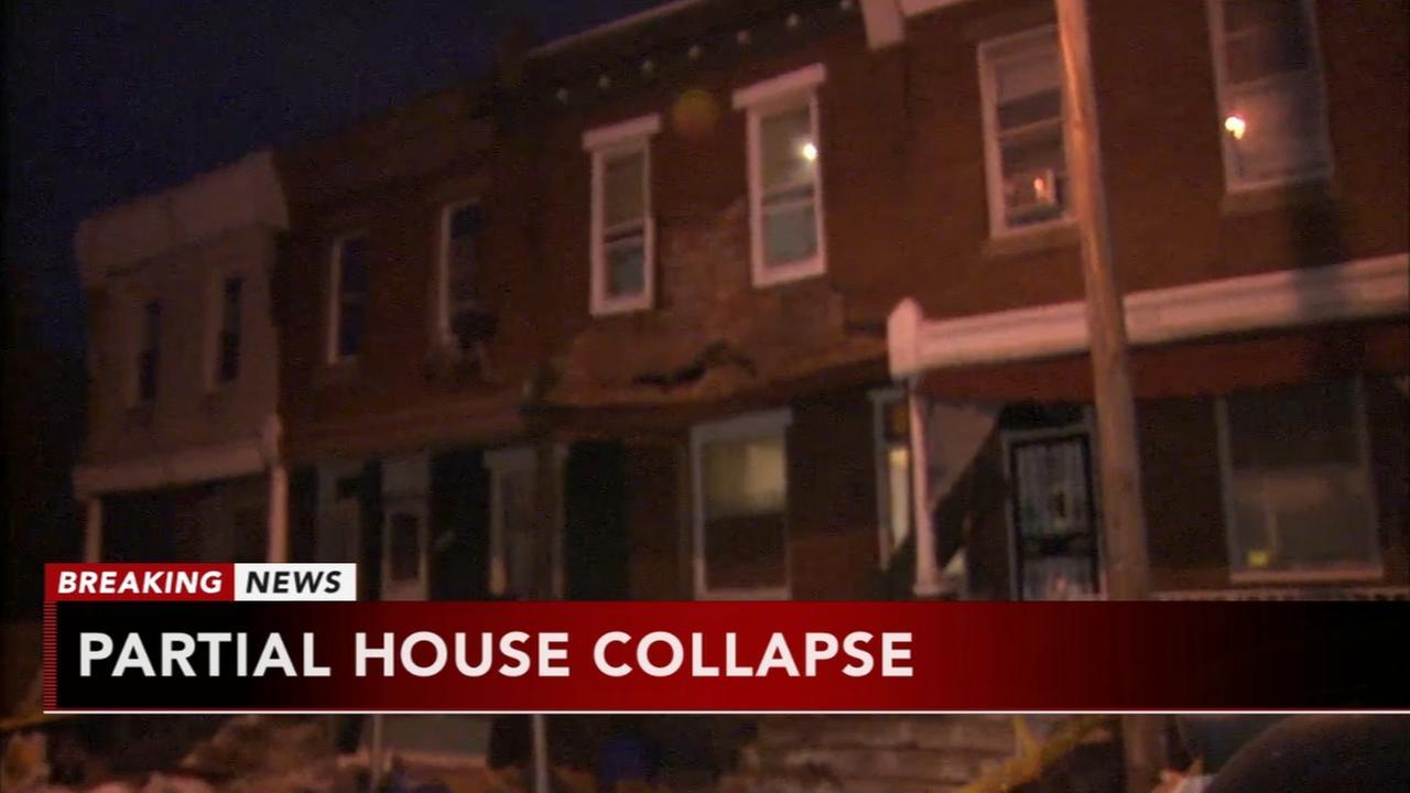 Partial collapse in North Philadelphia