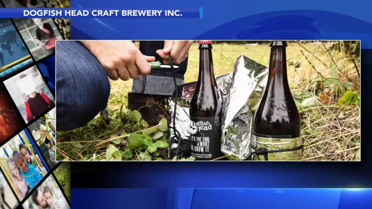 $45 bottle of Dogfish Head survival beer comes with knife, blanket