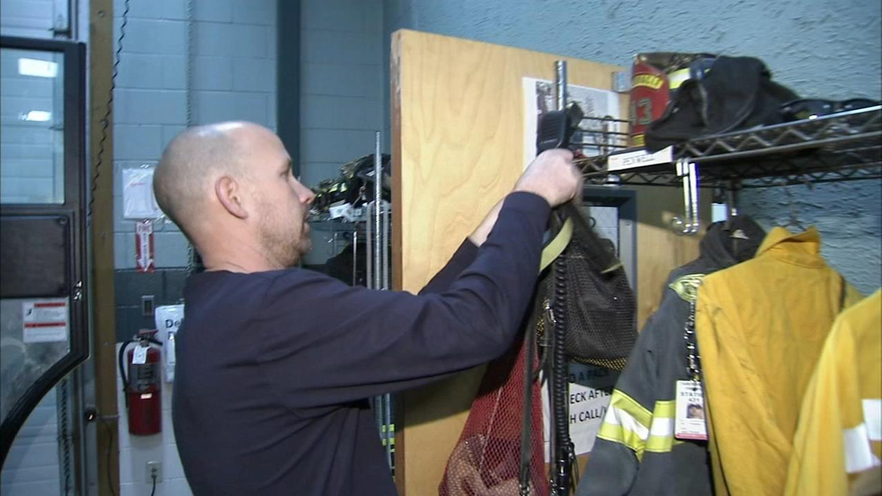 Firefighter lives at firehouse following fire