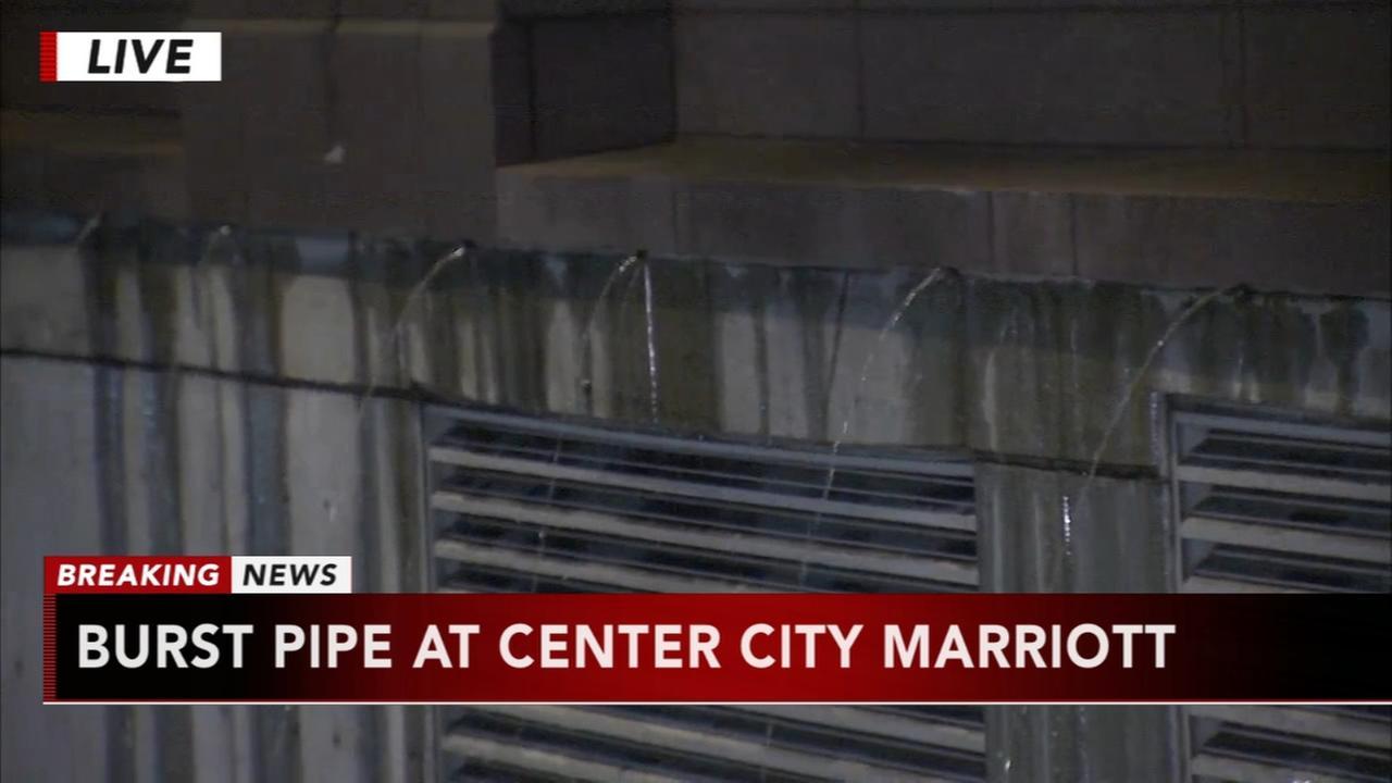 Burst pipe at Center City Marriott