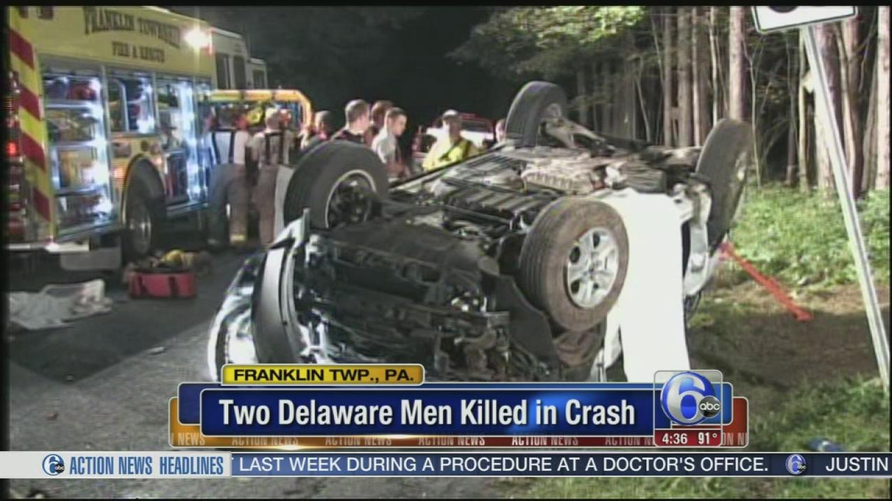 VIDEO: 2 Delaware men killed in NE Pa. crash