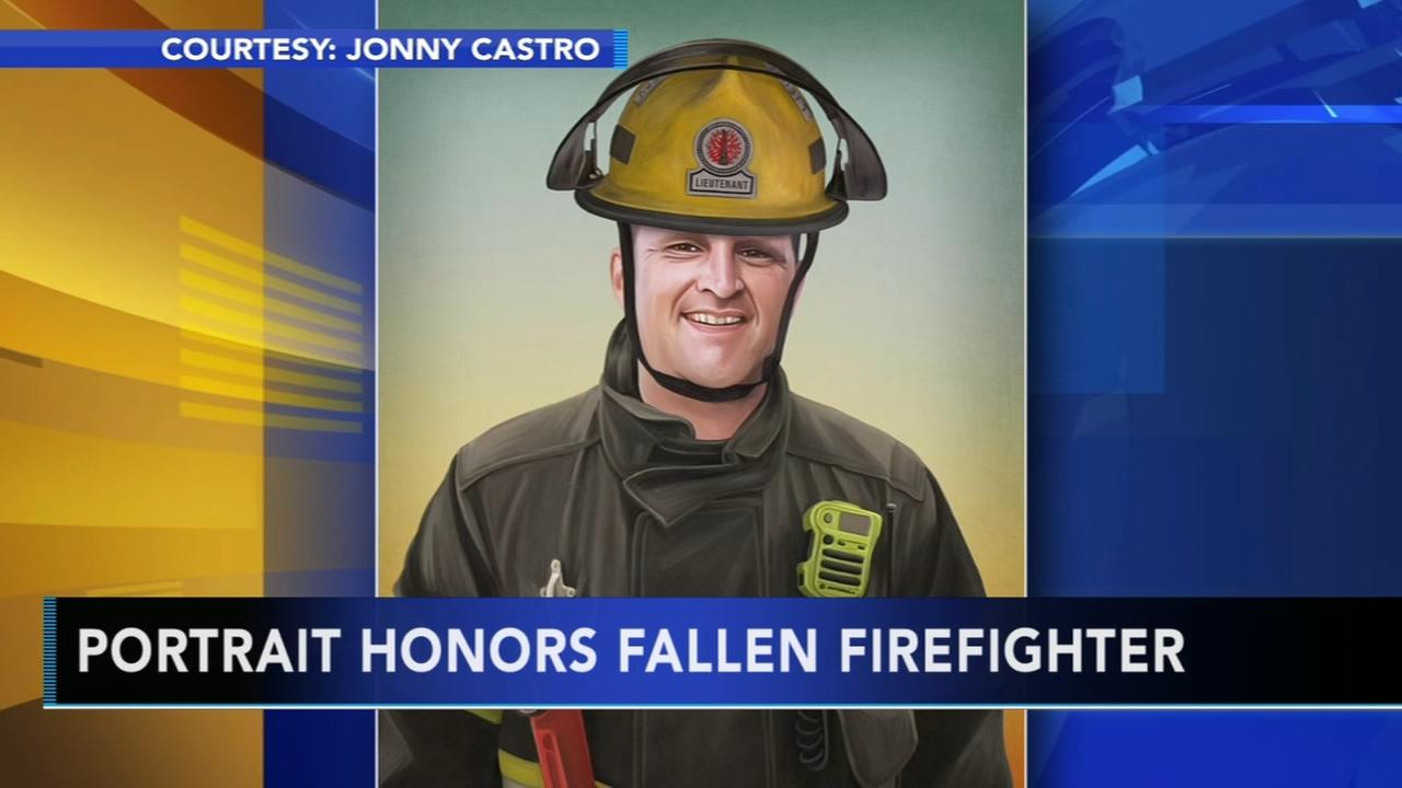 Philadelphia police honor fallen firefighter with painting