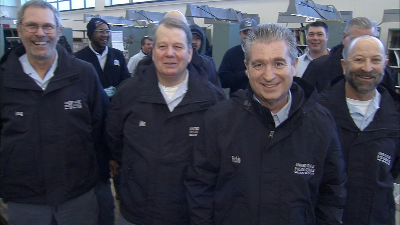 Letter carriers in Media join million mile club