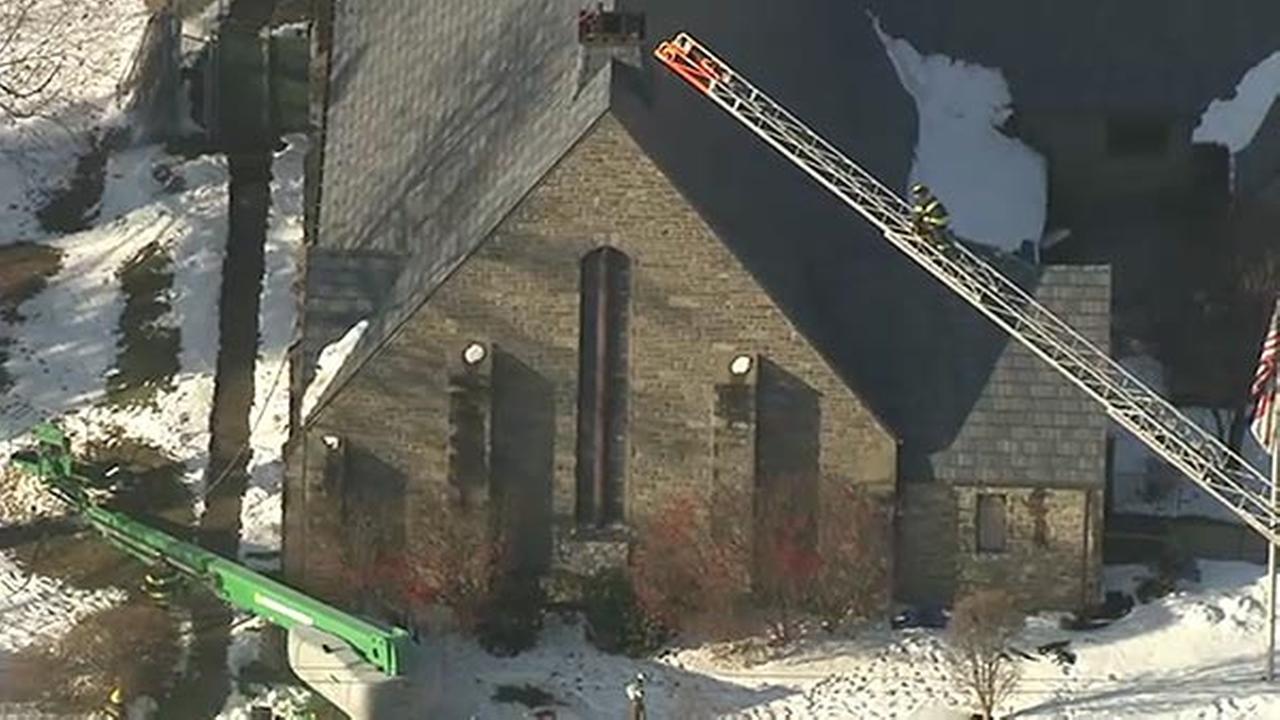 Firefighters battle 2-alarm church blaze in Upper Darby