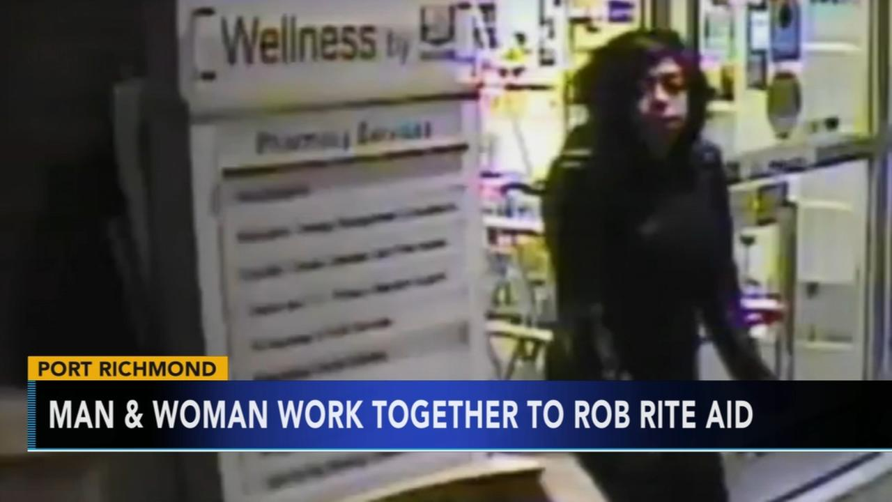 Police: Man and woman work together to rob Rite Aid