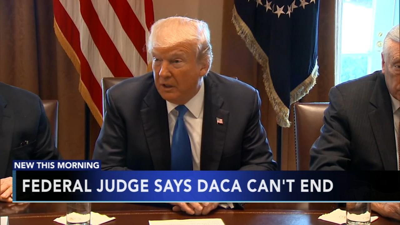 Judge blocks Trump decision to end DACA