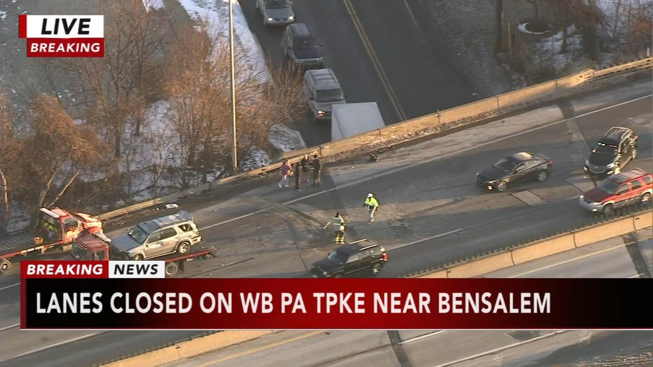 Multi-vehicle crash shuts down WB Pa. Turnpike