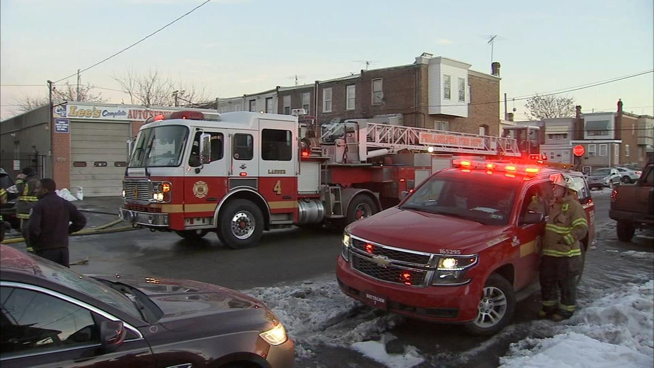 Fire, reported explosion at SW Philadelphia auto body shop