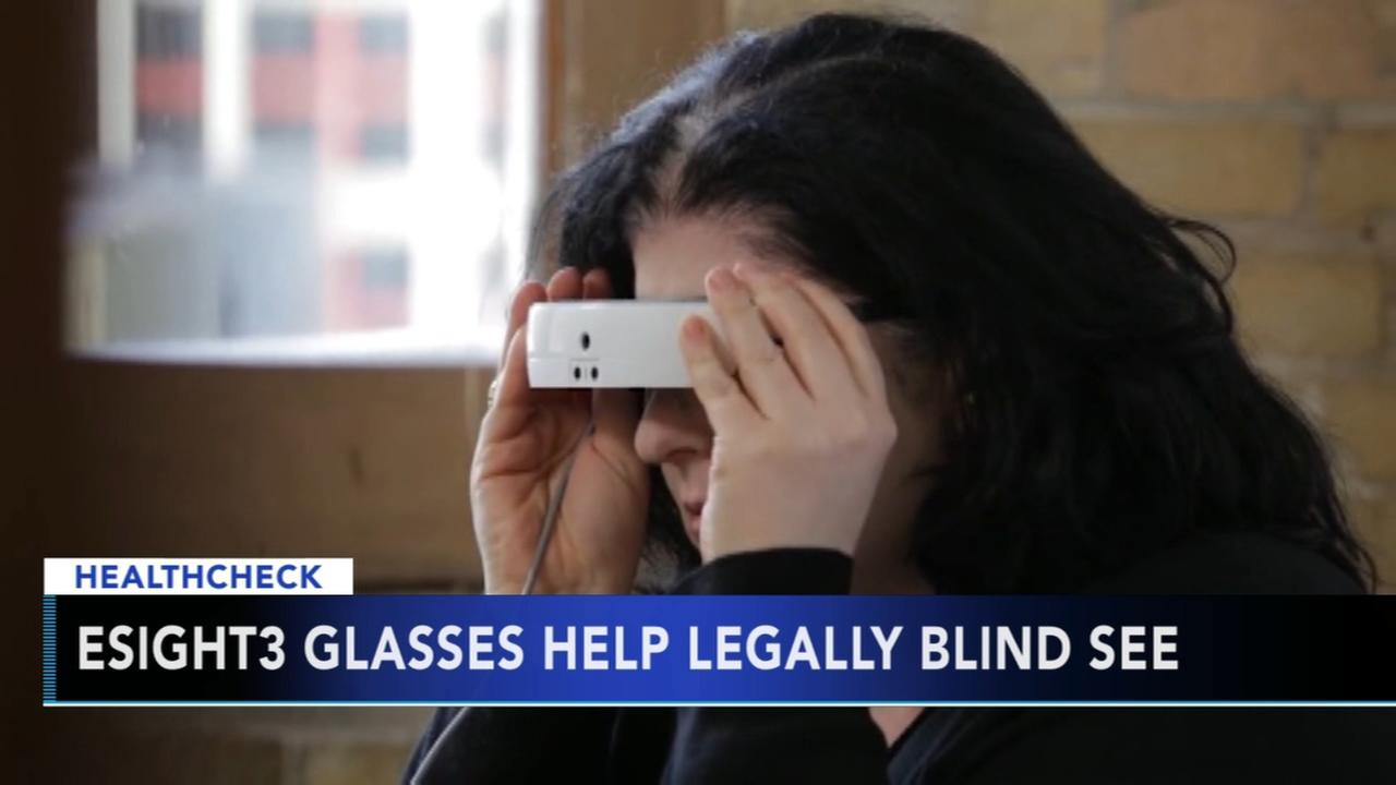 New electronic glasses help legally blind see