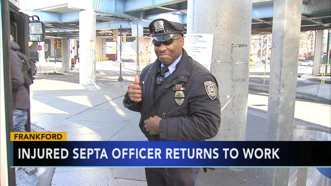 After near fatal hit-and-run, SEPTA officer back on his feet