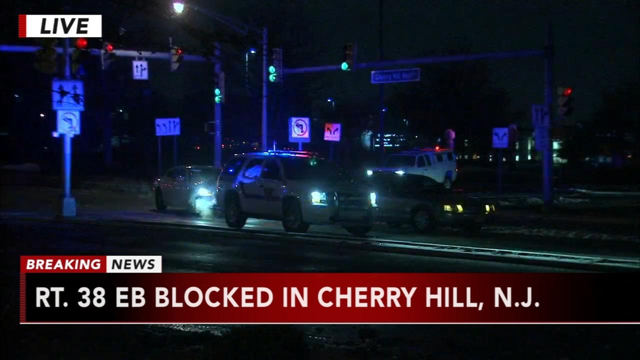 Crash closes Route 38 near Cherry Hill Mall