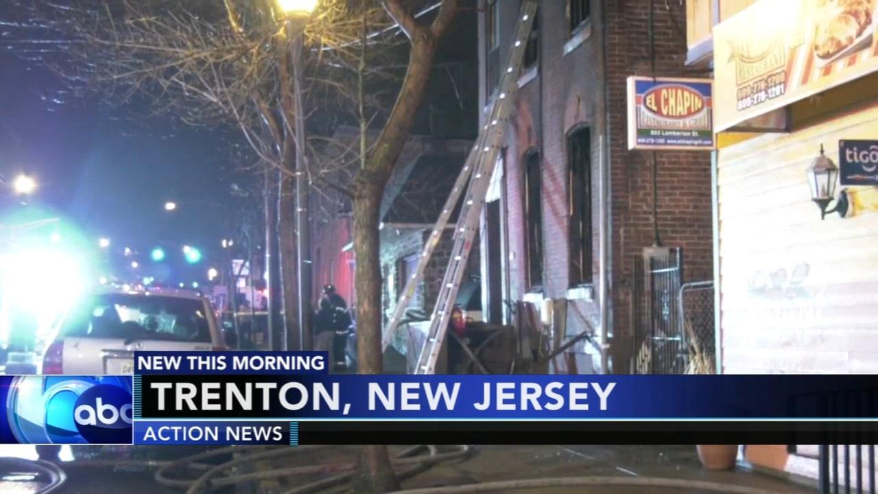 3 injured in Trenton house fire