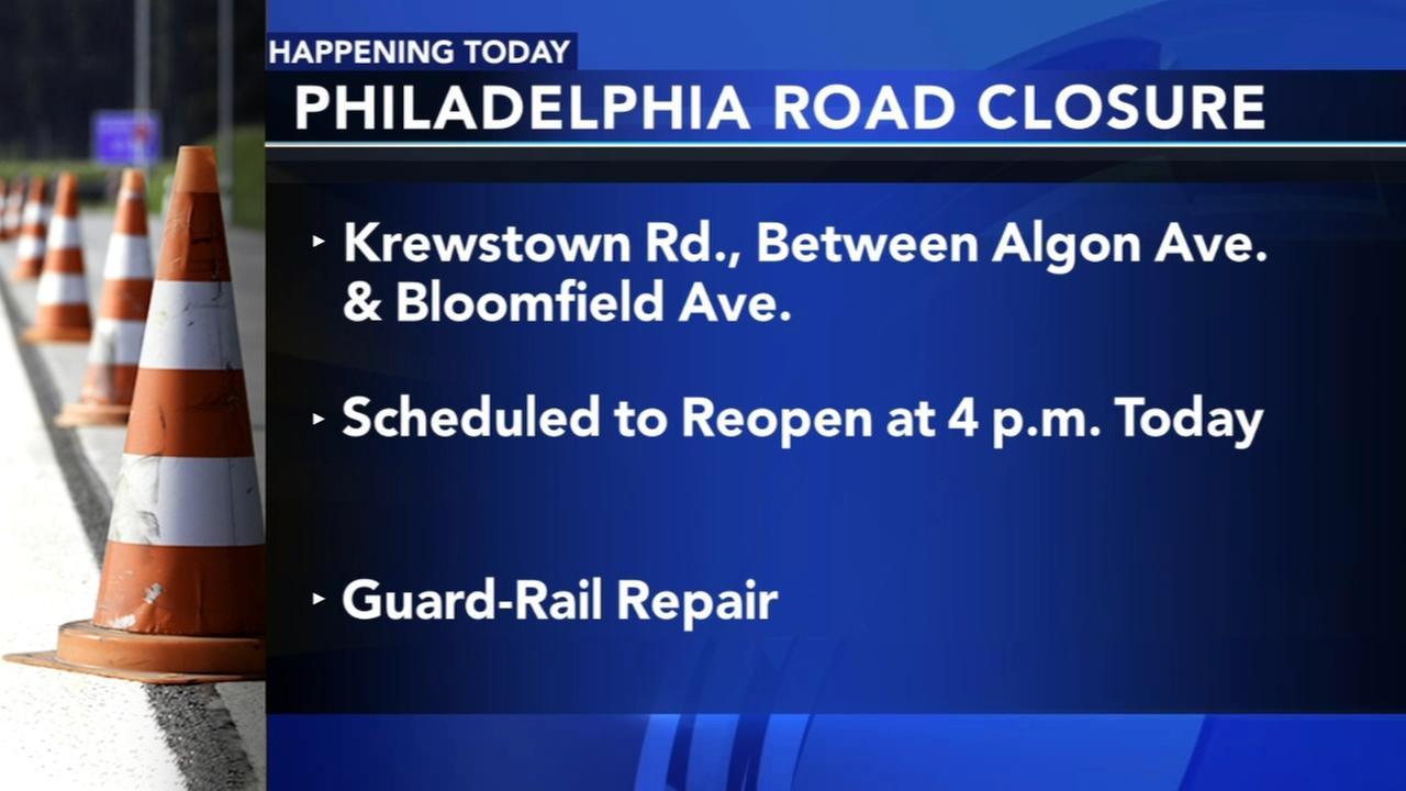 Krewstown Road closed down for scheduled maintenance