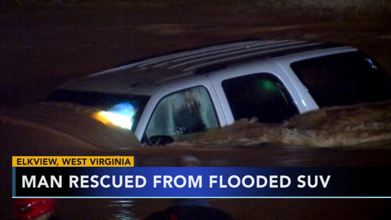 Man rescued from flooded SUV