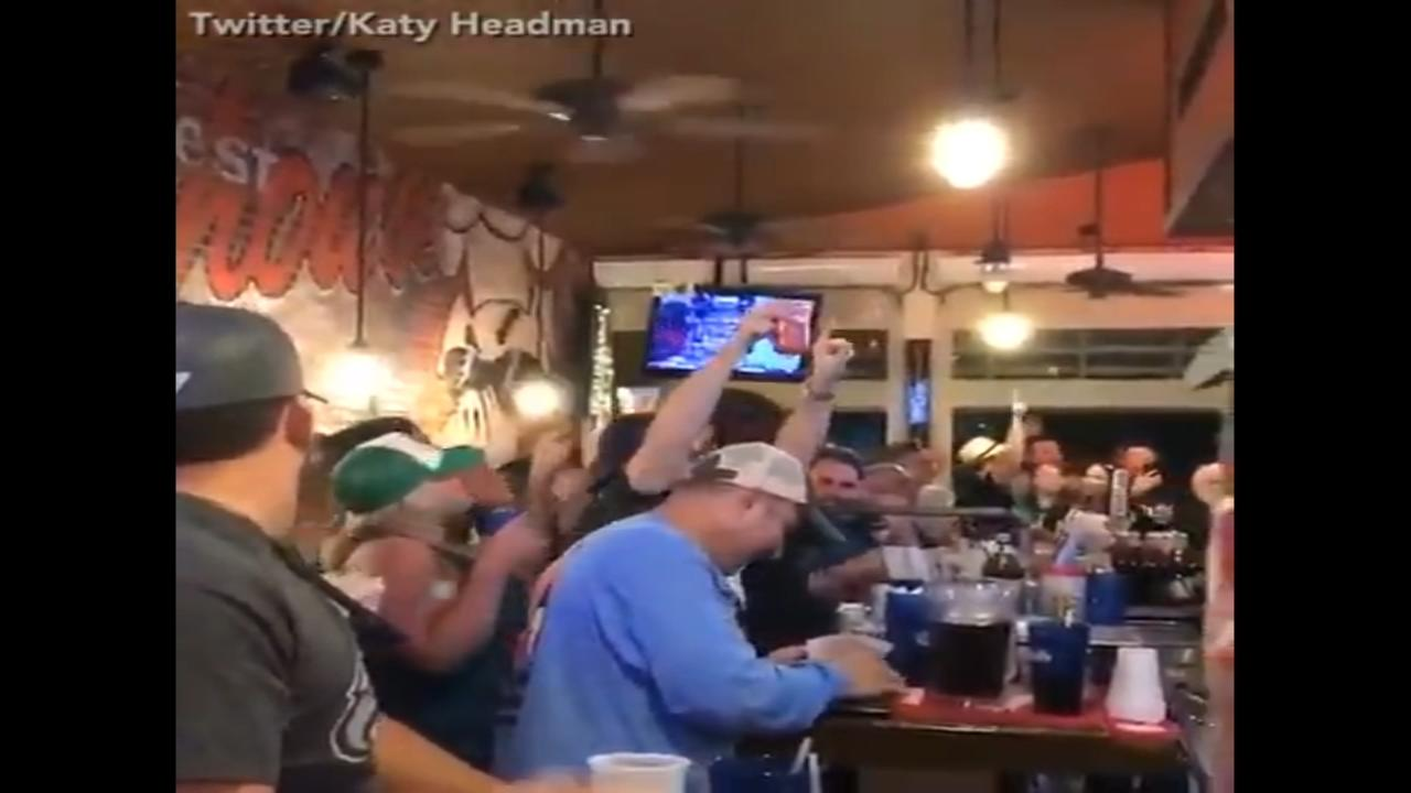 Fans celebrate Eagles win with Action News theme