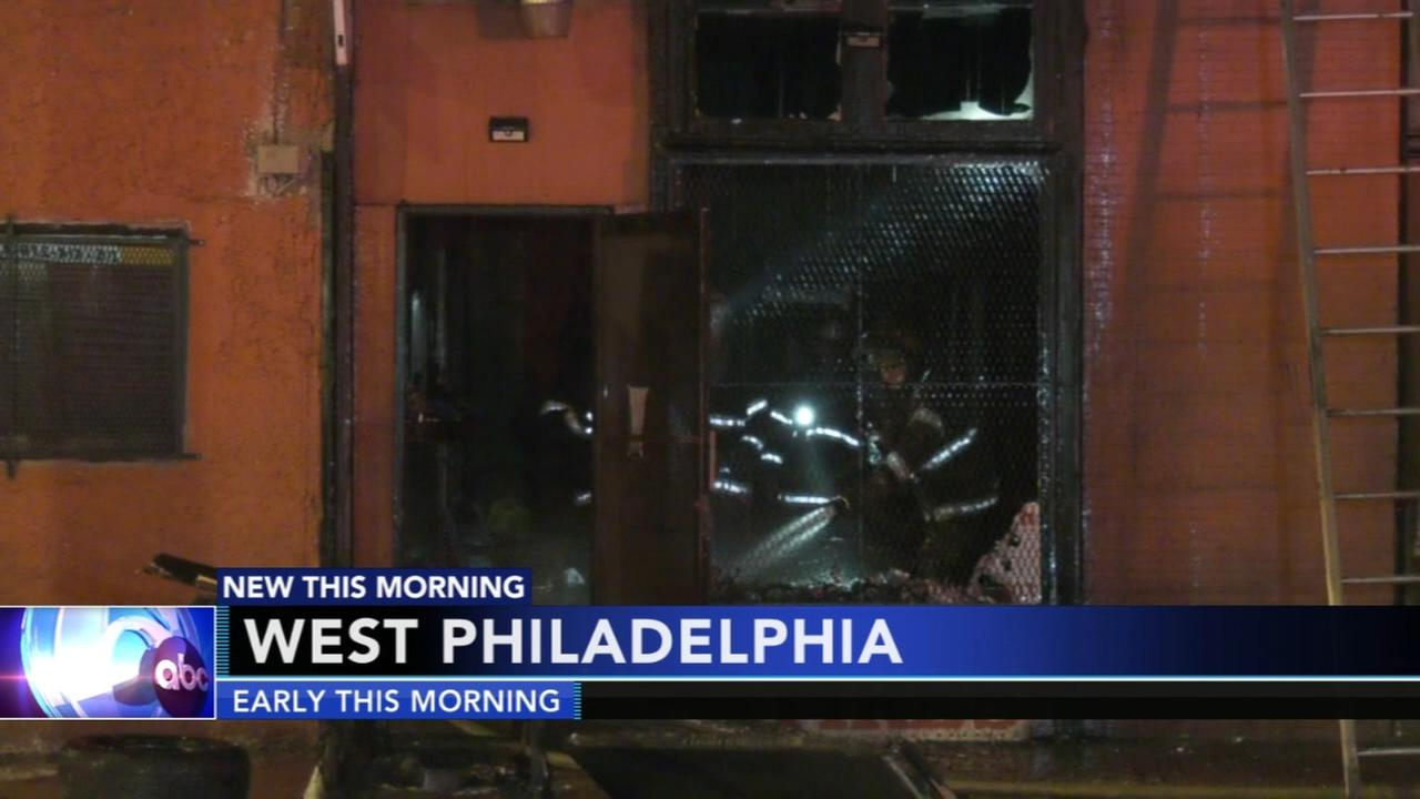 Fire destroys tire store in West Philadelphia
