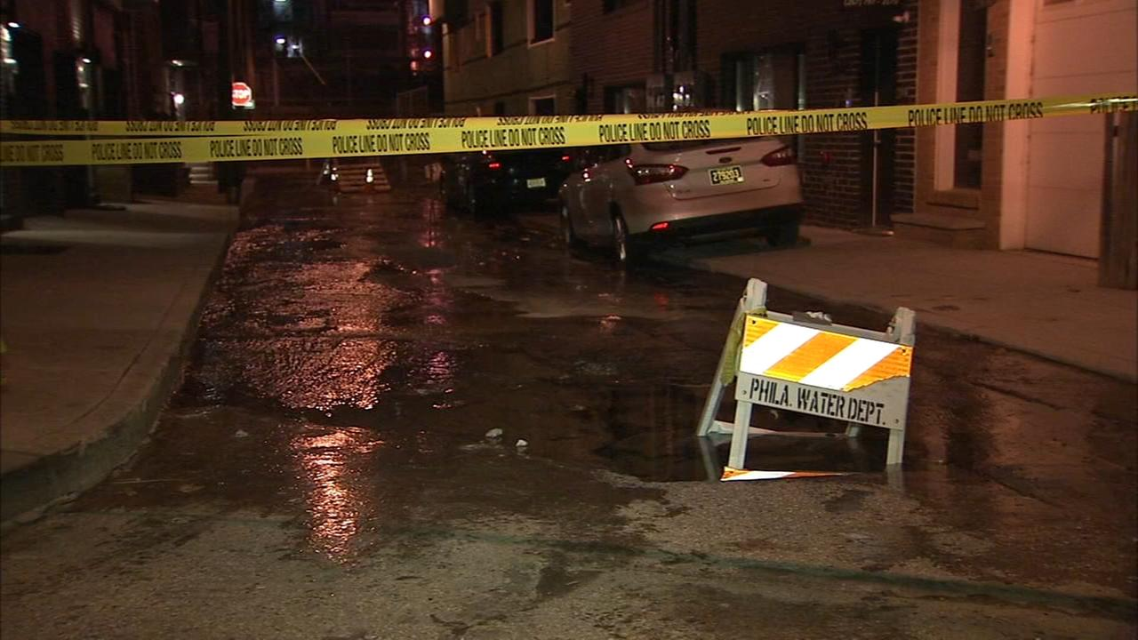 Water main break in South Philadelphia