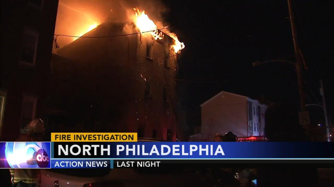 Fire investigation in North Philadelphia