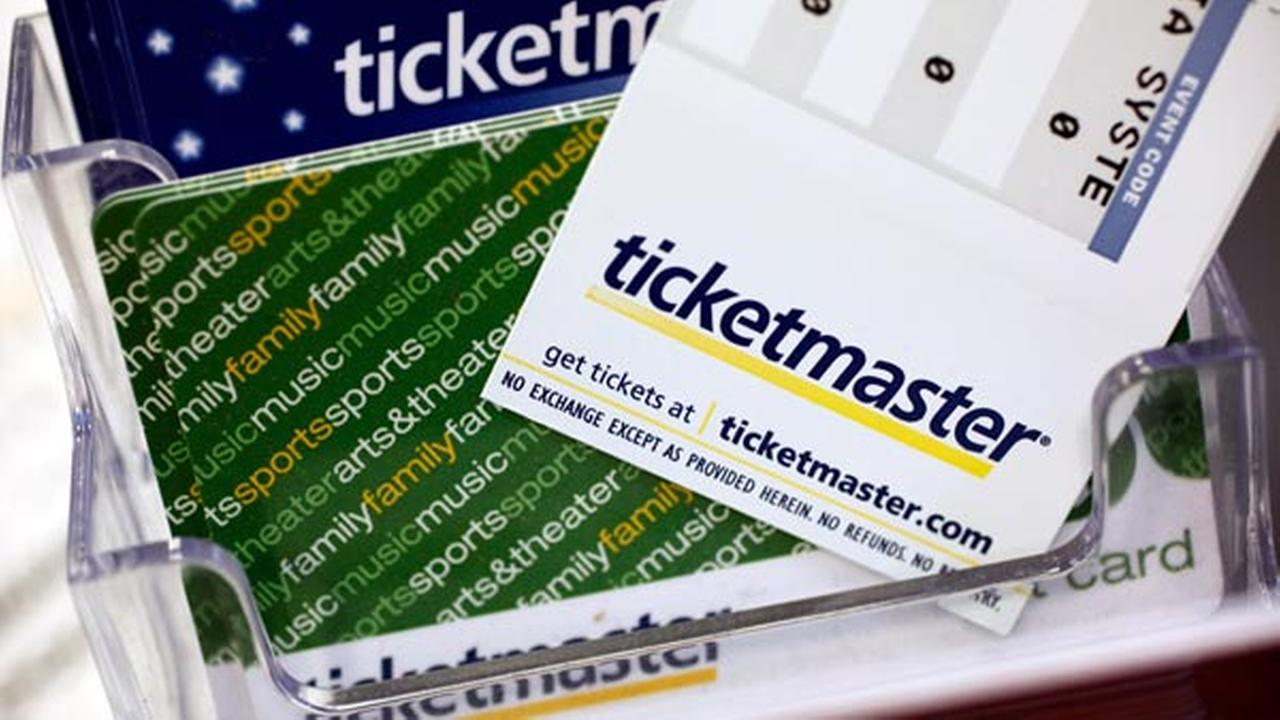 FILE - In this file photo, Ticketmaster tickets and gift cards are shown at a box office in San Jose, Calif.