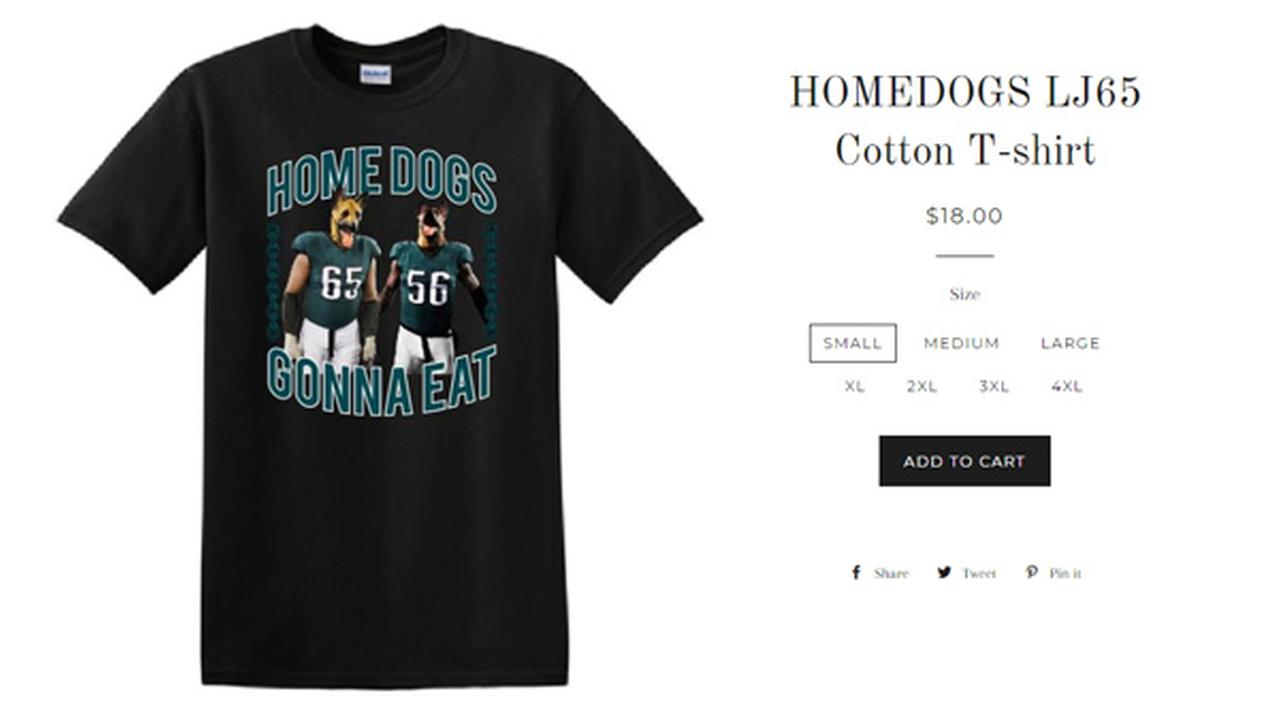 Eagles' Lane Johnson creates 'Homedogs' t-shirt benefiting Philadelphia schools