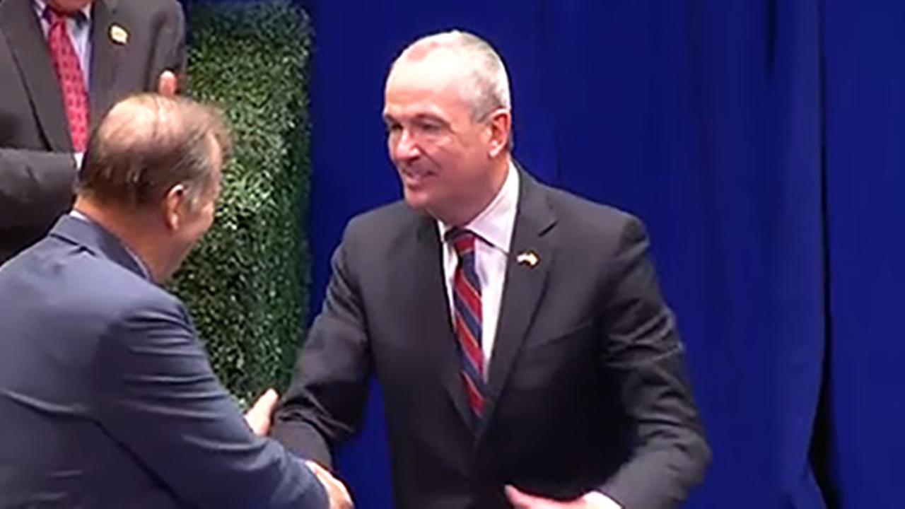 Democrat Phil Murphy replacing GOP Gov. Chris Christie