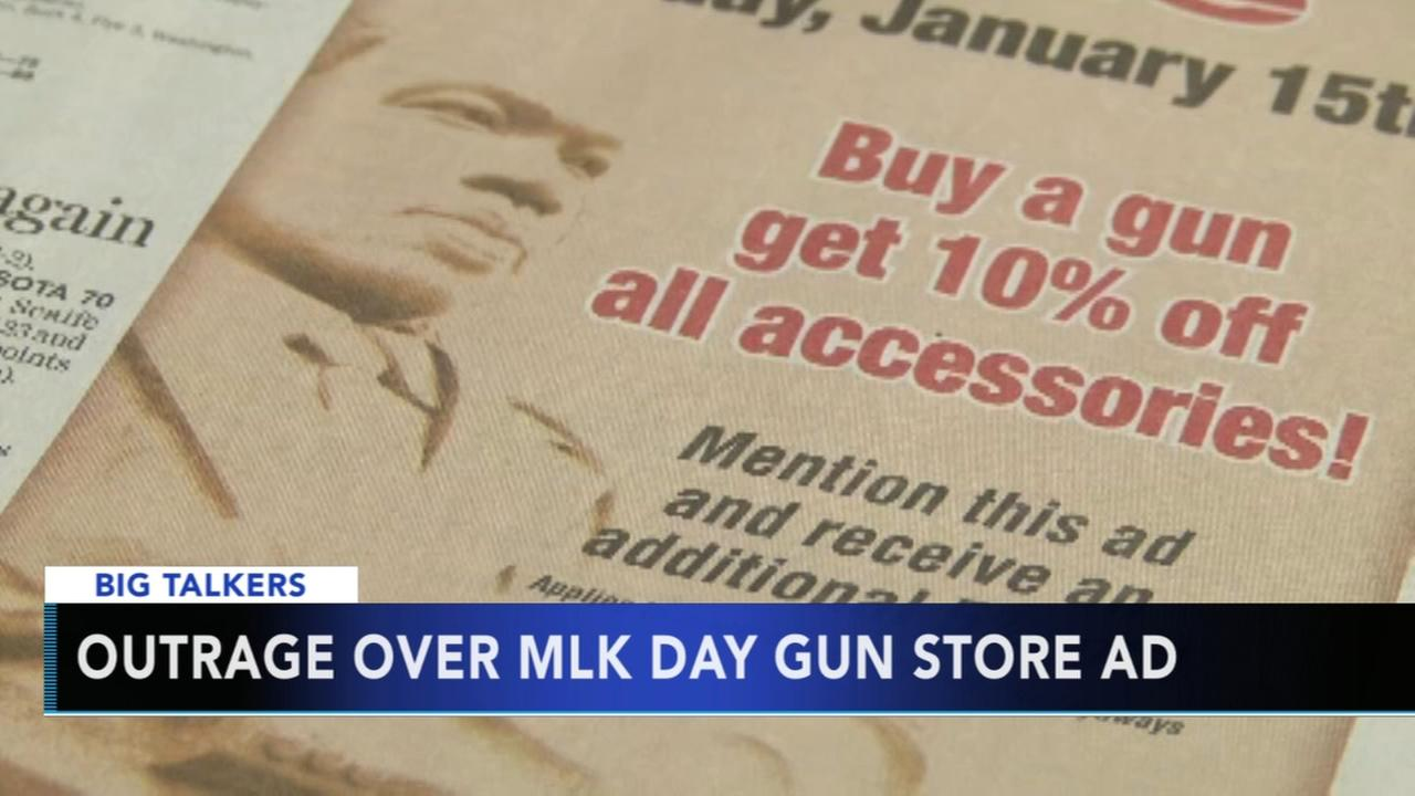 VIDEO: Outrage over MLK Day gun shop ad