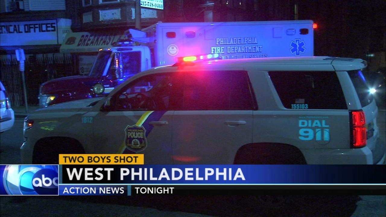 Two kids shot in West Philadelphia