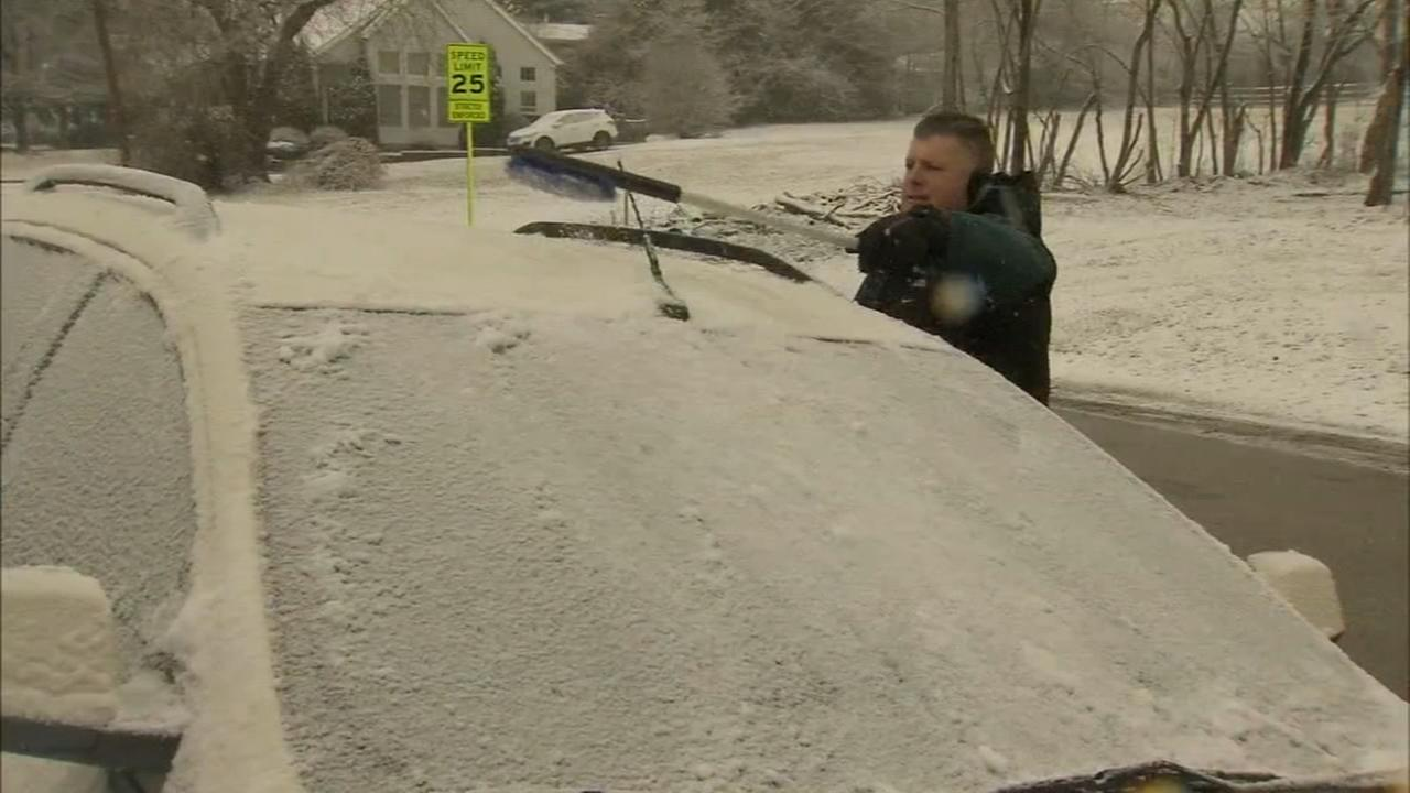 Residents deal with light snowfall