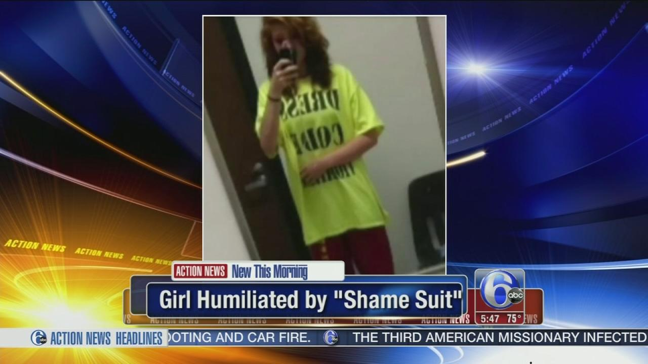 VIDEO: Girl humiliated by wearing shame suit