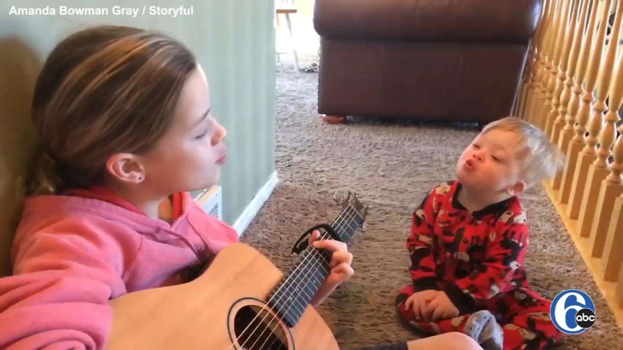 VIDEO: Sisters music teaches toddler with Down syndrome to talk