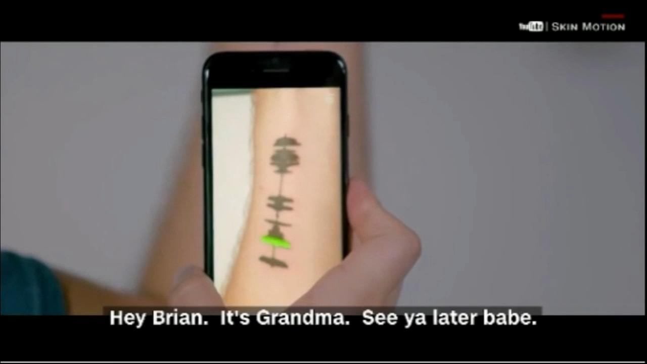 Man gets tattoo of grandmothers voicemail