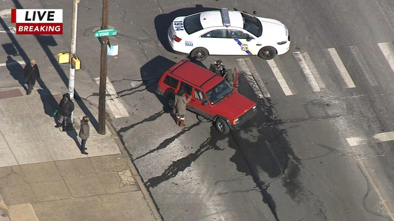 Bicyclist struck in West Philadelphia
