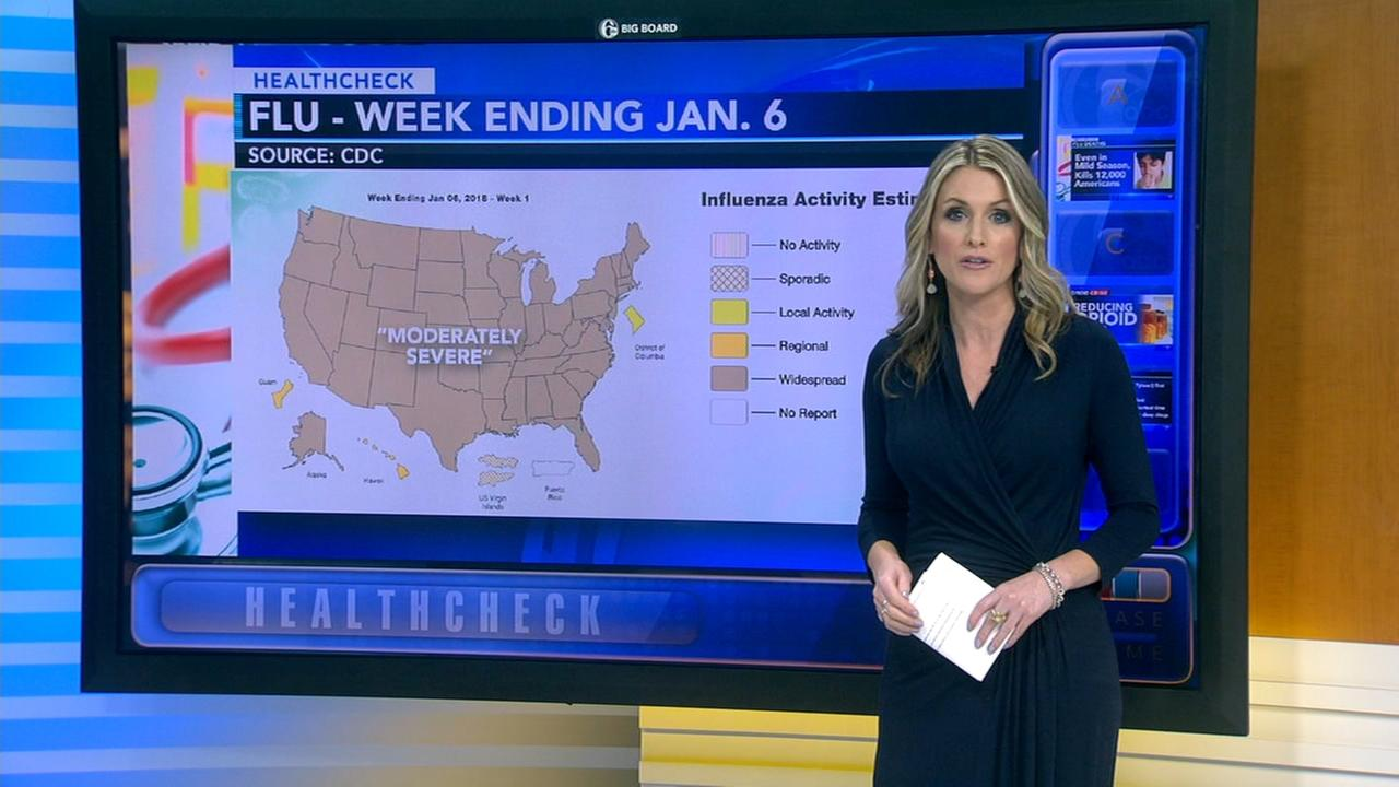 Widespread flu activity growing nationwide