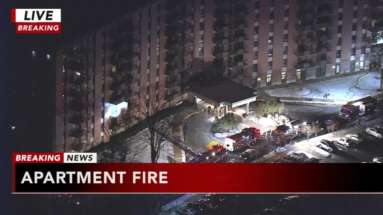Willow Grove apartment complex evacuated following fire