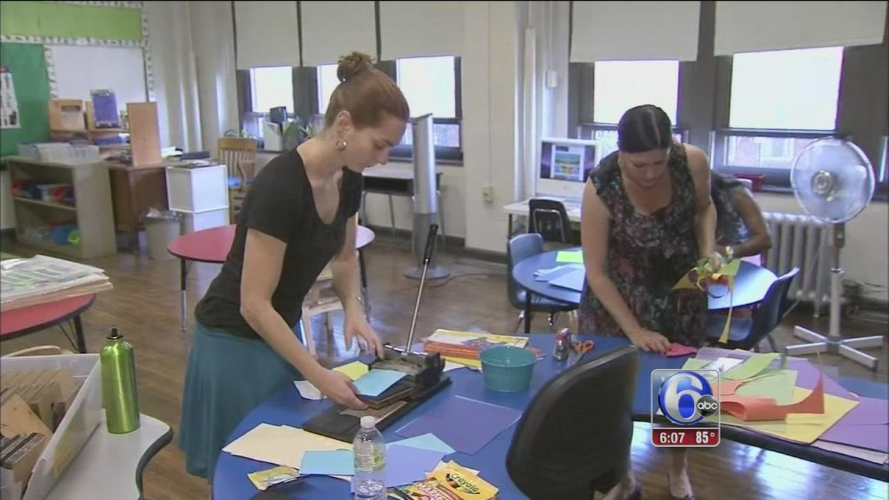 VIDEO: Philly teachers get resourceful amid budget cuts